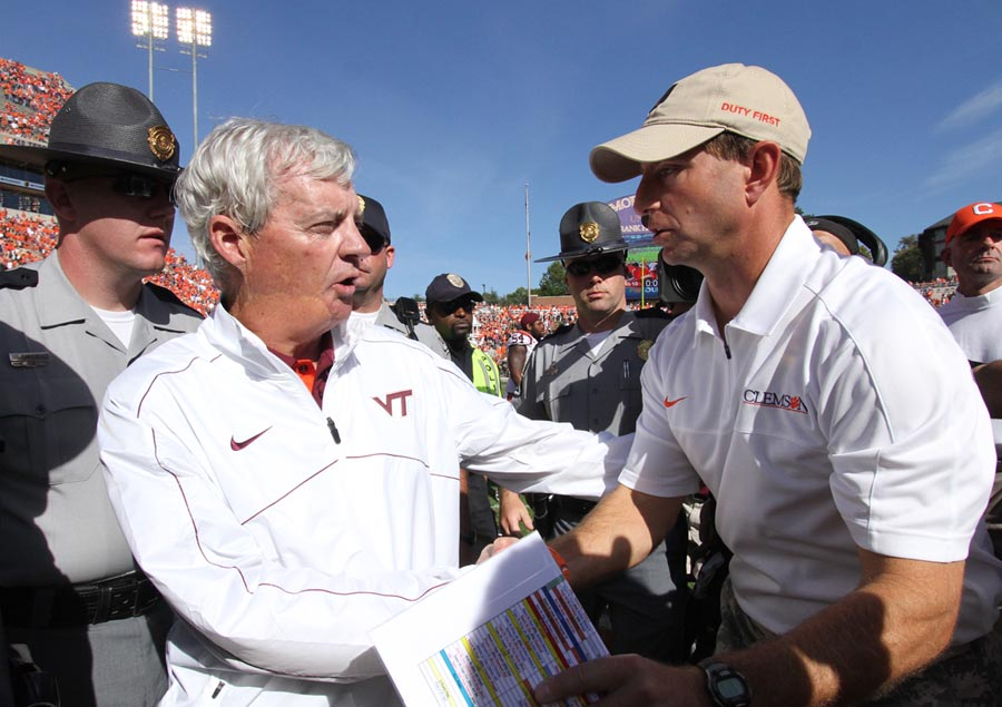 Frank Beamer's Hokies have been passed by the like of Dabo Swinney's Clemson Tigers recently.