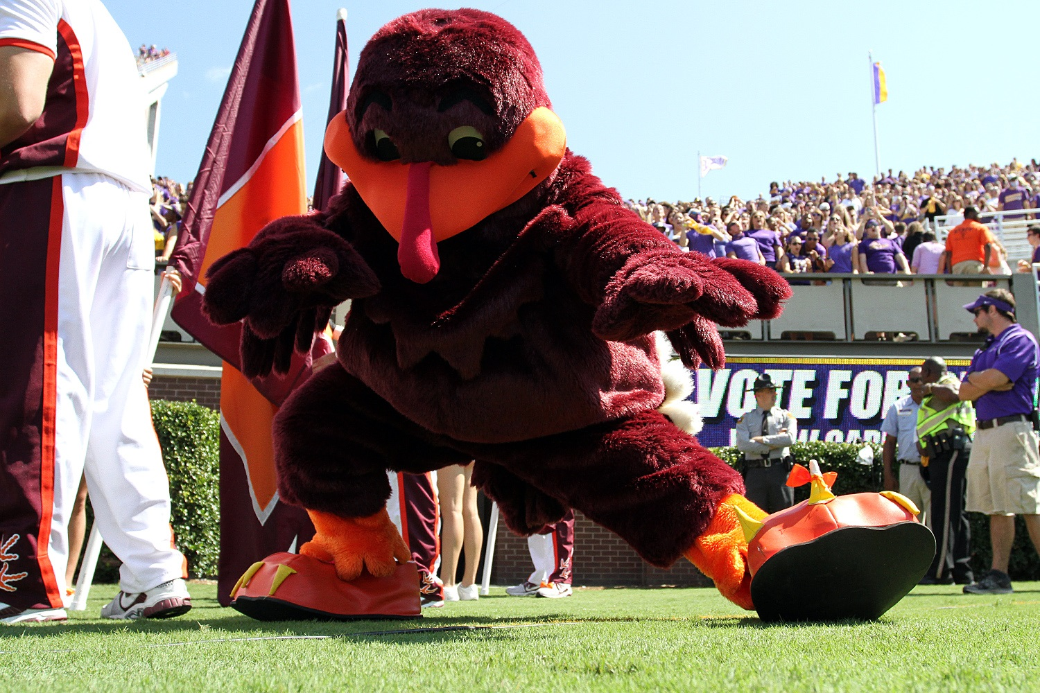 The HokieBird was ready, but VT is in a dogfight.