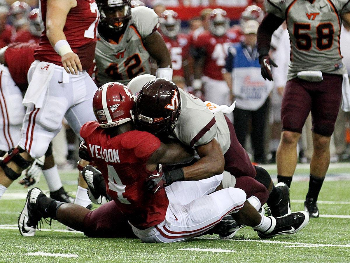 Tariq Edwards and the Hokie D were stout against #1 Alabama