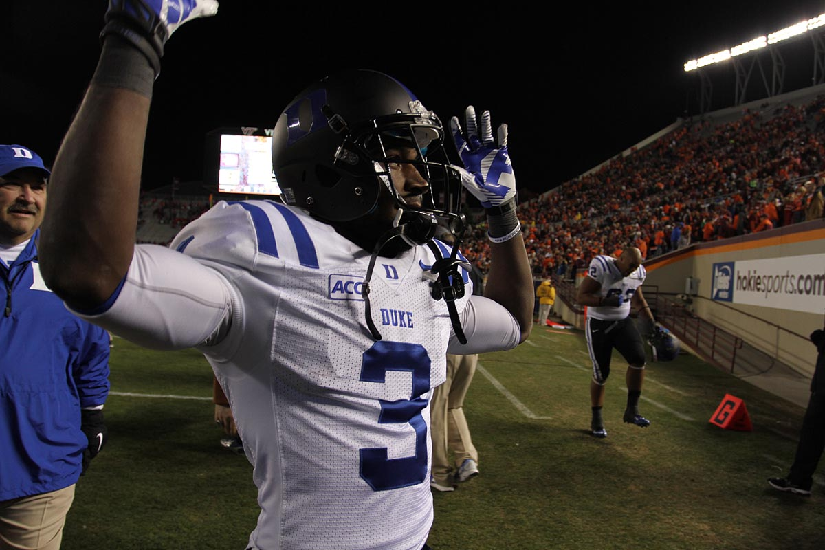 Duke and Jamison Crowder partied at VT's expense.