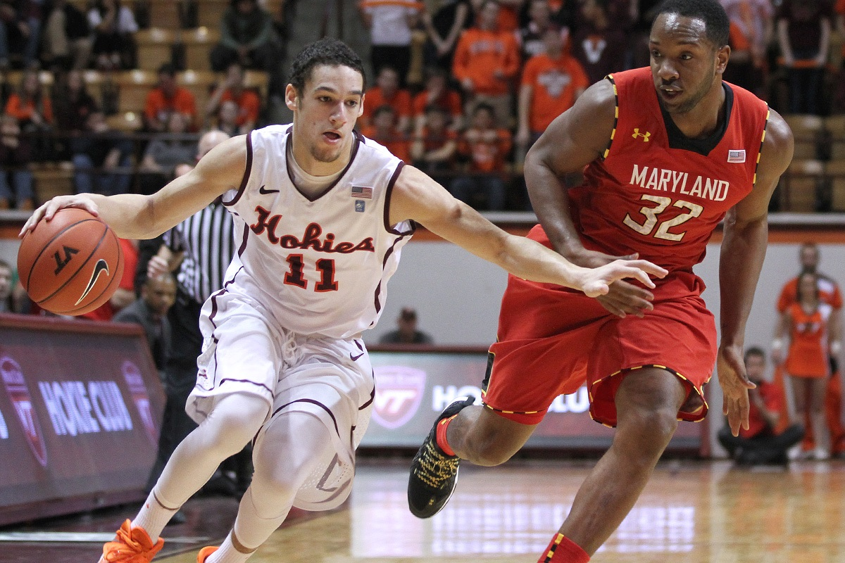 Tech's Devin Wilson tries to shake Maryland's Dez Wells