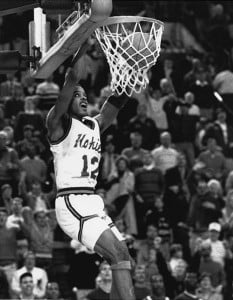 Bimbo Coles gave Hokie fans a lot of high-flying highlights in his sophomore season of 1987-88.