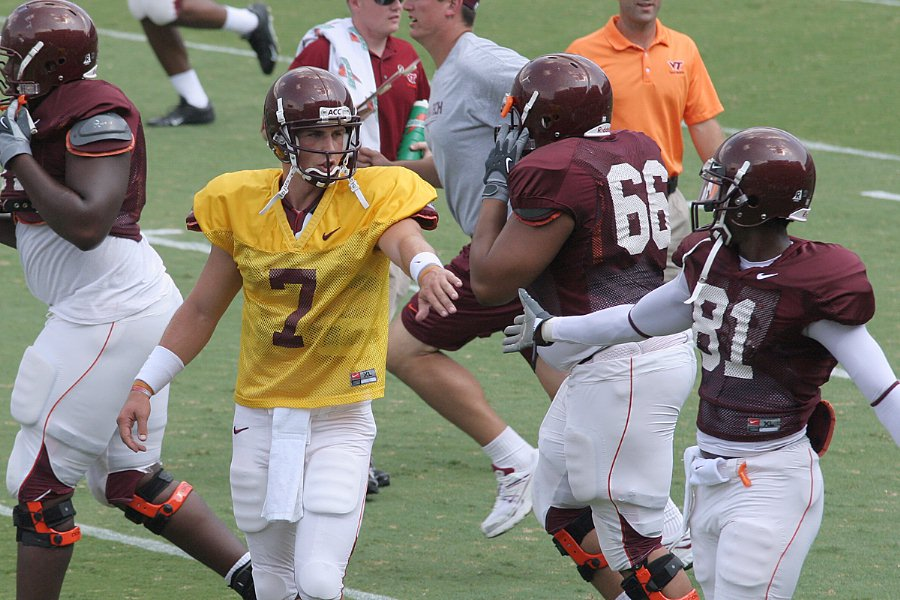 Glennon and Justin Harper during an intrasquad scrimmage