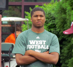 Dalton looks on at a VT camp in 2013