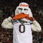 The Miami Hurricanes and Sebastian the Ibis had a rocking good time in Lane Stadium Thursday night.