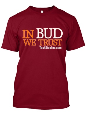 """In Bud We Trust"" T-shirt, 22. Click the shirt to learn more and to order!"