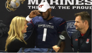 Lawson,  moments after announcing for Va Tech at the 2015 Semper Fidelis All-American Bowl