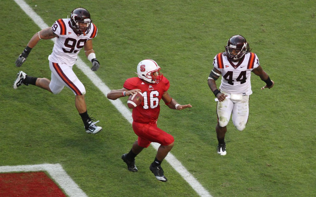 The Hokies beat Russell Wilson and NC State in Raleigh in 2010. Tech will host the Wolfpack on Friday, October 9th in 2015.