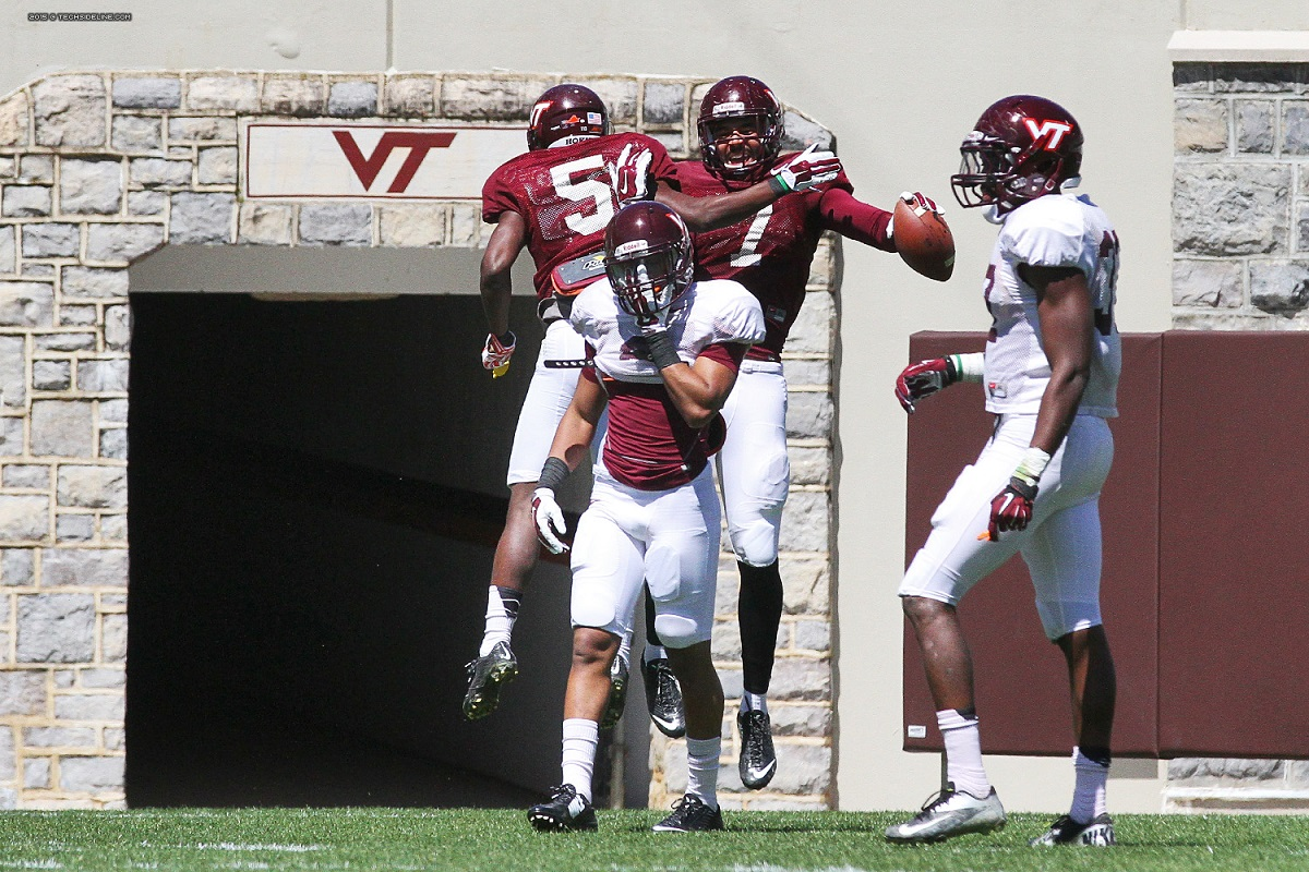 Saturday's scrimmage was a lesson for many young defenders.