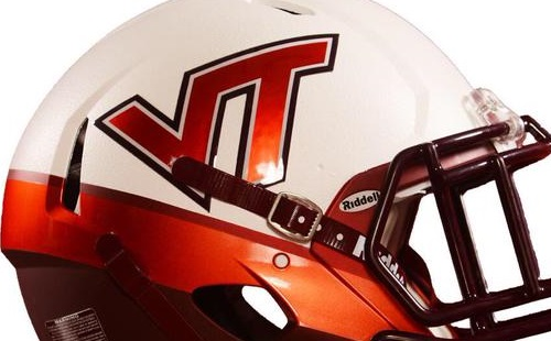 Virginia Tech 2015 White Effect helmet