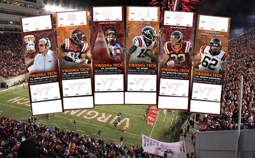 Virginia Tech football season tickets