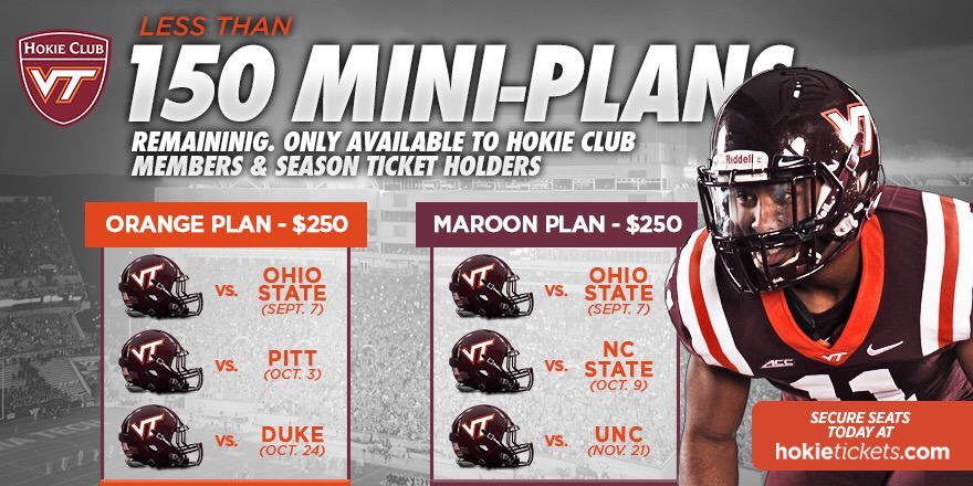 Virginia Tech football mini-plans