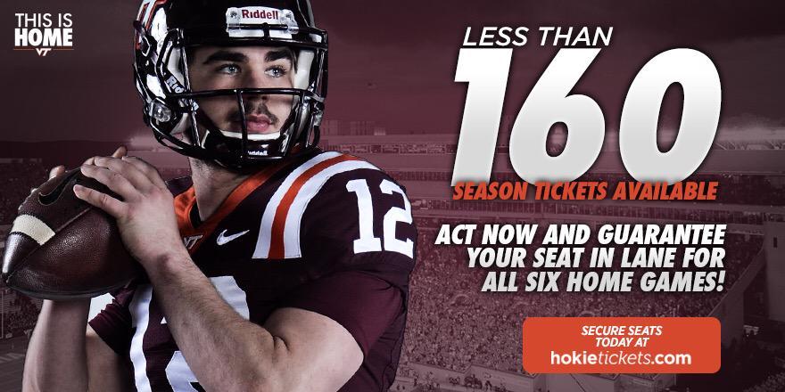 Virginia Tech football season tickets