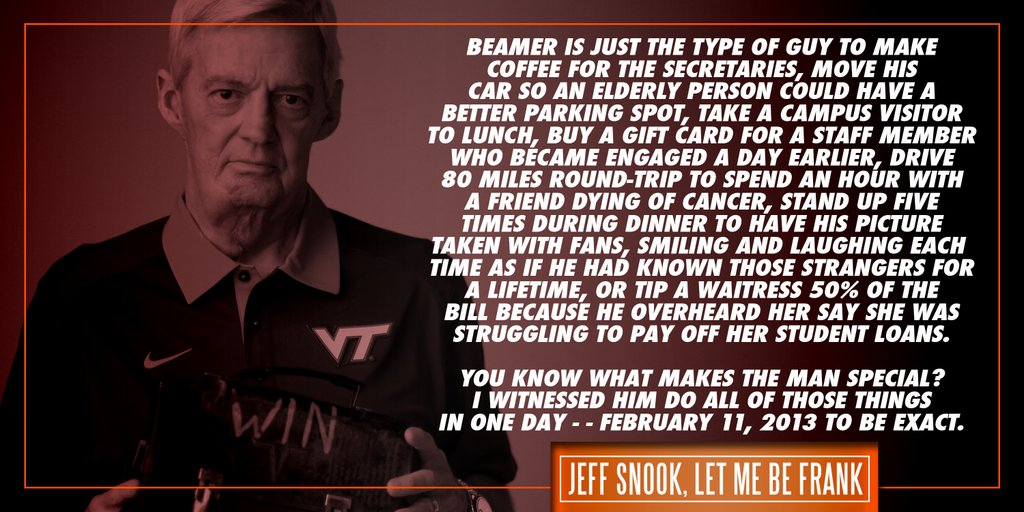 Frank Beamer Snook Quote