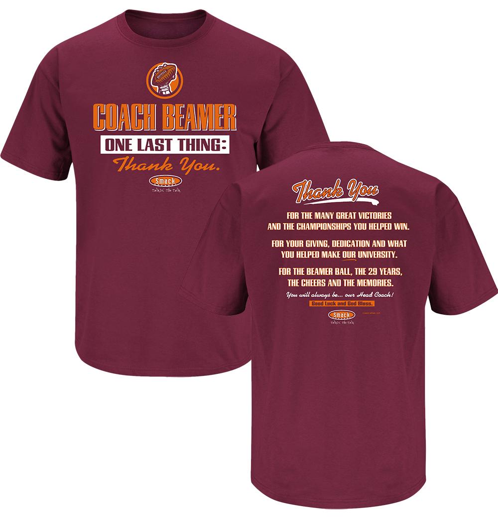 Coach Beamer Thank You T-shirt, $19.99