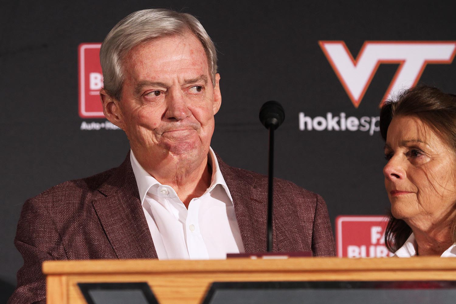 Frank Beamer and his wife Cheryl