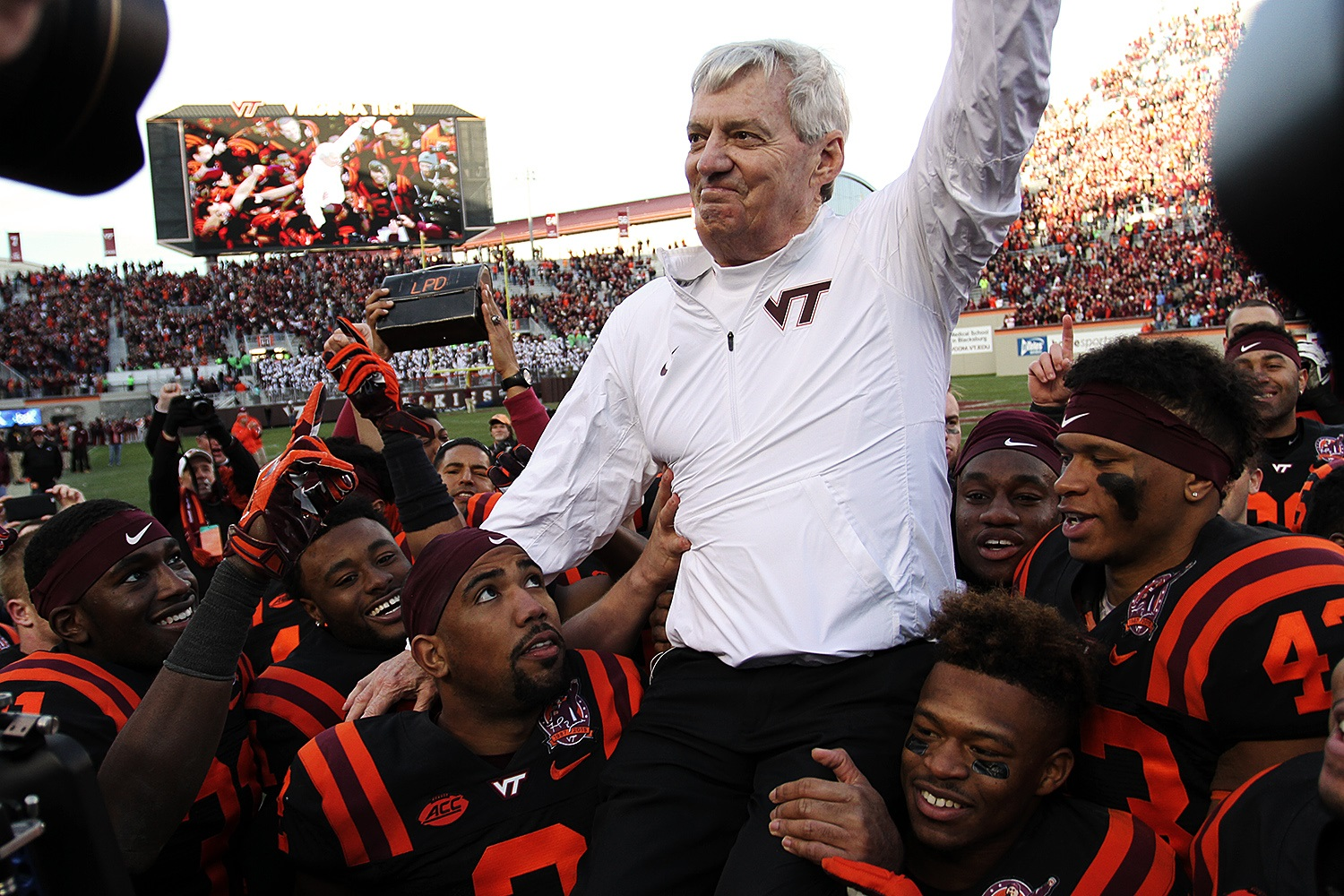 Frank Beamer College Football Hall of Fame Virginia Tech