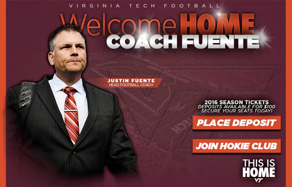 Justin Fuente is Virginia Tech's next head coach.