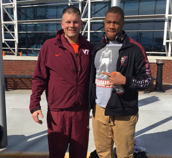 Justin Fuente and JaQuanBailey. Bailey surprised many by picking Iowa State over the Hokies on Signing Day