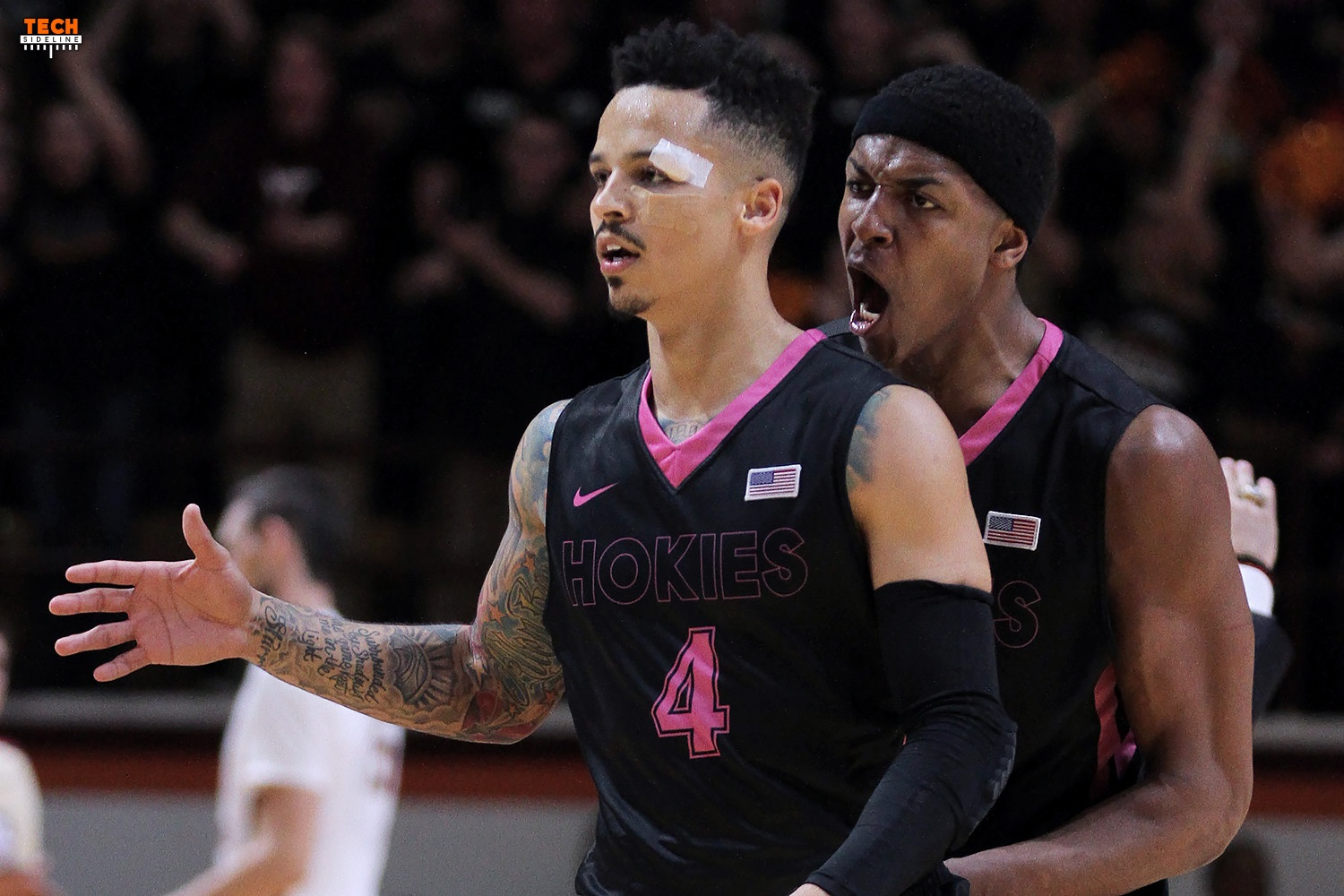 Seth Allen, despite a bloodied face, helped Tech beat Florida State.