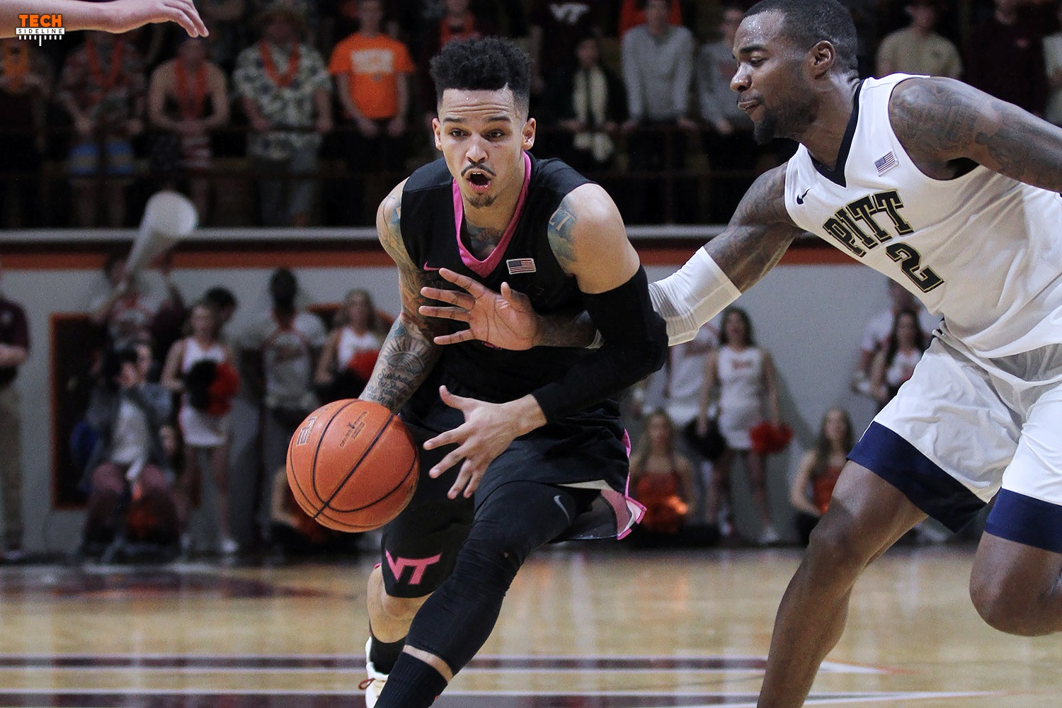 Seth Allen and the Hokies beat Pitt to record their fourth consecutive win.