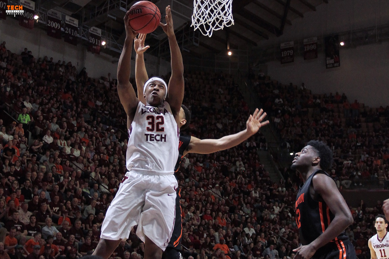 Zach LeDay goes up against Princeton, in front of a huge Cassell Crowd.