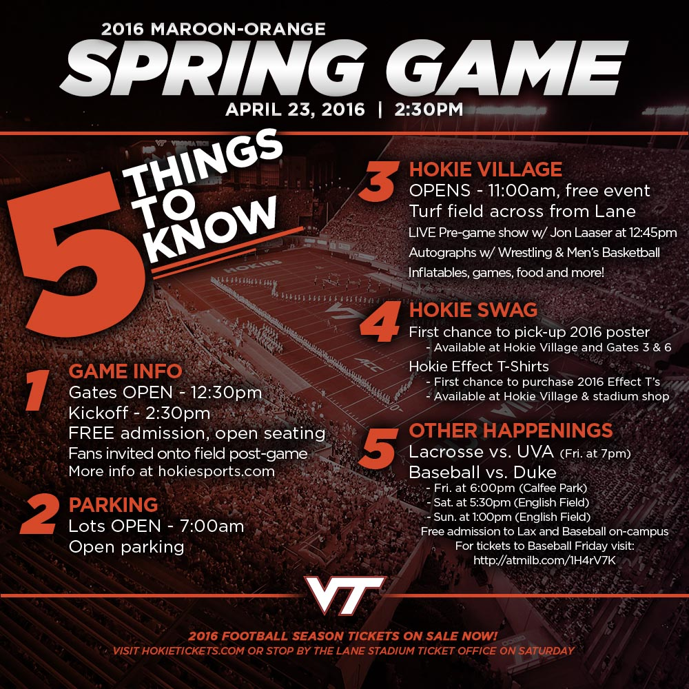 Virginia Tech Spring Game Everything You Need To Know Techsideline Com