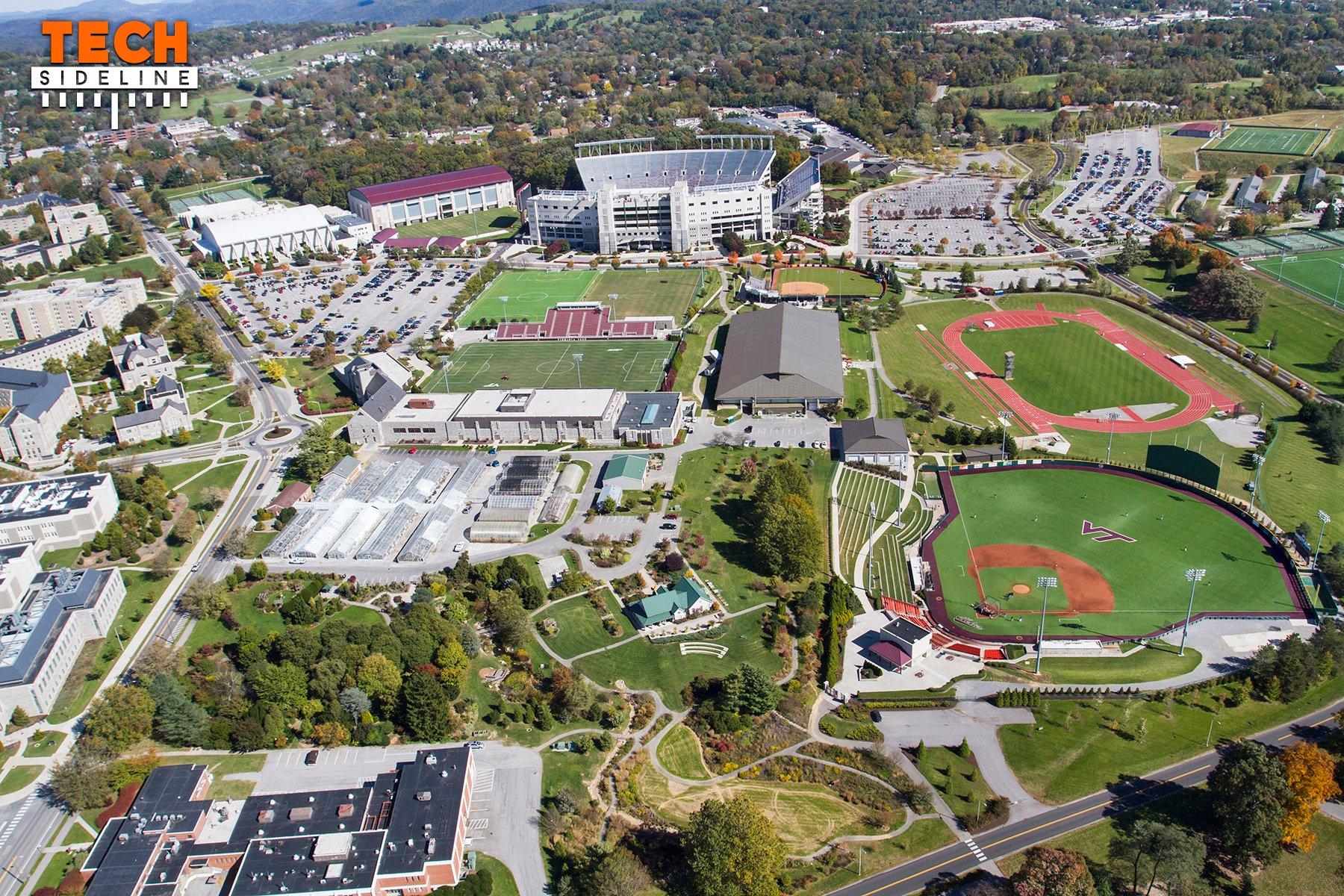 2015.10.17.  Aerial Campus Photography, Virginia Tech.  October Flyover.
