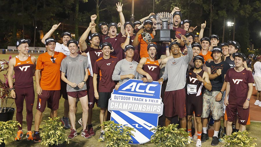 Virginia Tech men's track and field, 2016 ACC outdoor champions (photo via hokiesports.com)