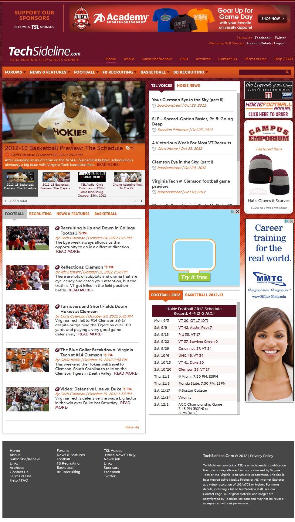 TSL's 2012 site design
