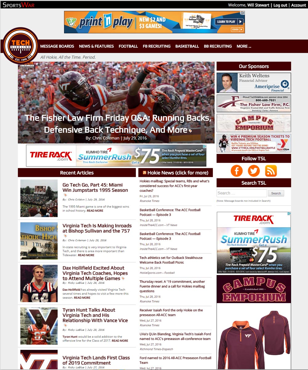 TechSideline.com's new site design