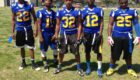 Virginia Tech target Ronnie Walker (32) posing with some of his Hopewell High School teammates.