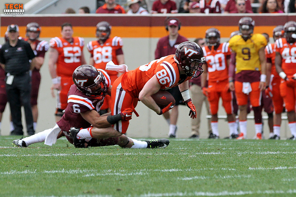 Virginia Tech receiver CJ Carroll