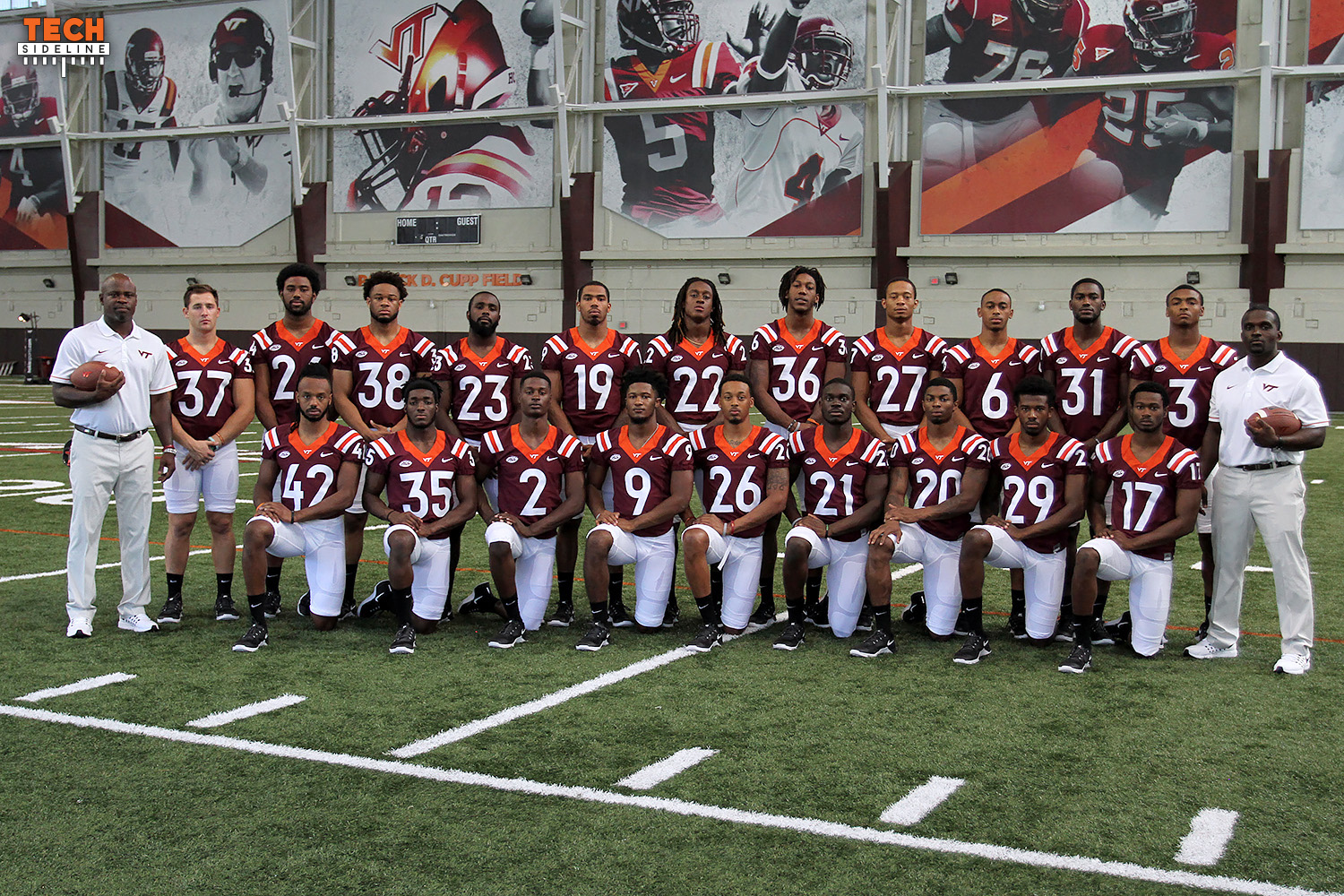 Virginia Tech's 2016 secondary.