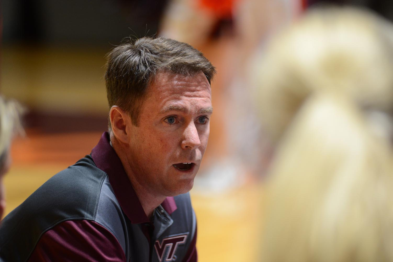 Virginia Tech head volleyball coach Chris Riley