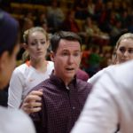Virginia Tech head volleyball coach Chris Riley