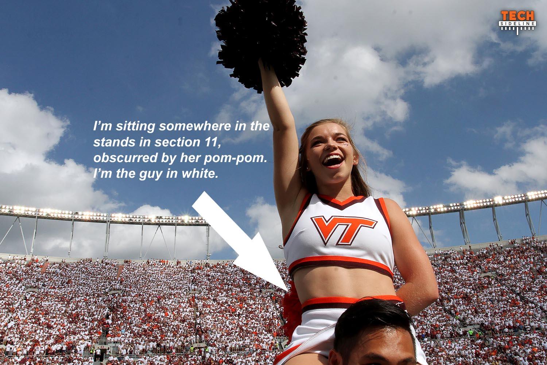 Virginia Tech cheerleader