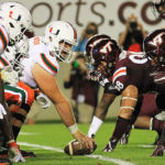 Virginia Tech won the battle in the trenches against Miami on Thursday night.  (All photos by Ivan Morozov)