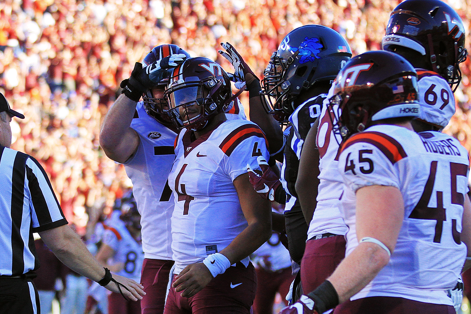 2016.11.05. No. 23 Virginia Tech (Hokies) at Duke University (Blue Devils). Wallace Wade Stadium, Durham, NC. Final score: Virginia Tech 24, Duke 21.