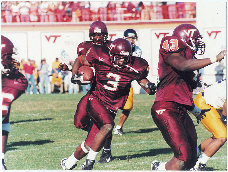 Ike Charlton had a huge game against West Virginia in 1998 (Photo credit: Virginia Tech)