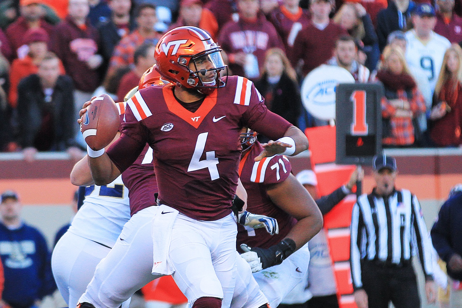 Jerod Evans and the Hokies will hope to play better next week.