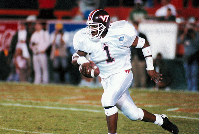 Keion Carpenter provided the biggest play of the 1996 Miami game (Virginia Tech sports photography)