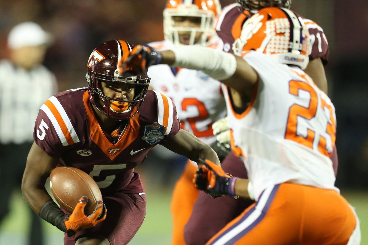 Virginia Tech Hokies wide receiver Cam Phillips (5)