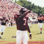 Michael Vick impressed the Hokie Nation in his college debut (Virginia Tech Athletics Photography)