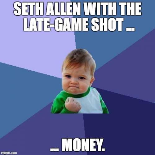 Success Kid loves him some Seth Allen