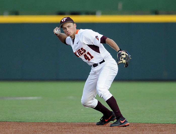 Matt Dauby is key to Tech's infield success. (Photo by Virginia Tech)