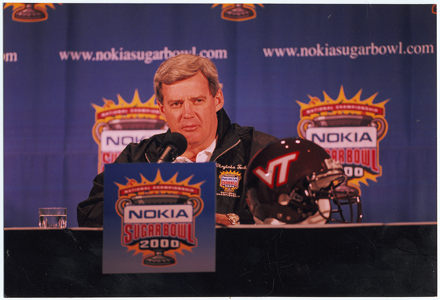 Frank Beamer led Tech to the brink of the National Championship in 1999. (Virginia Tech Sports Photography)