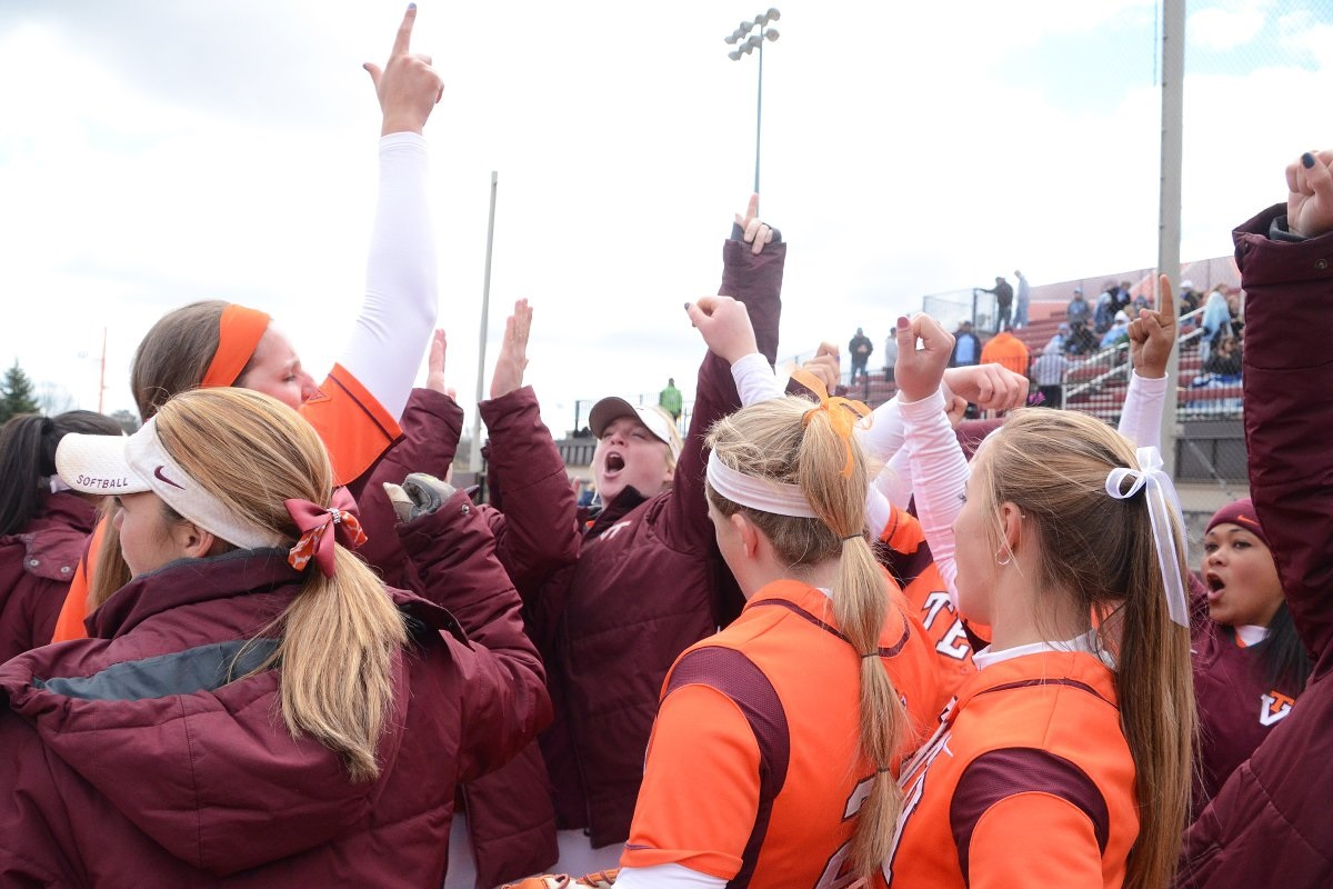 The softball team has a big series coming up against Notre Dame. (photo by Virginia Tech sports photography)