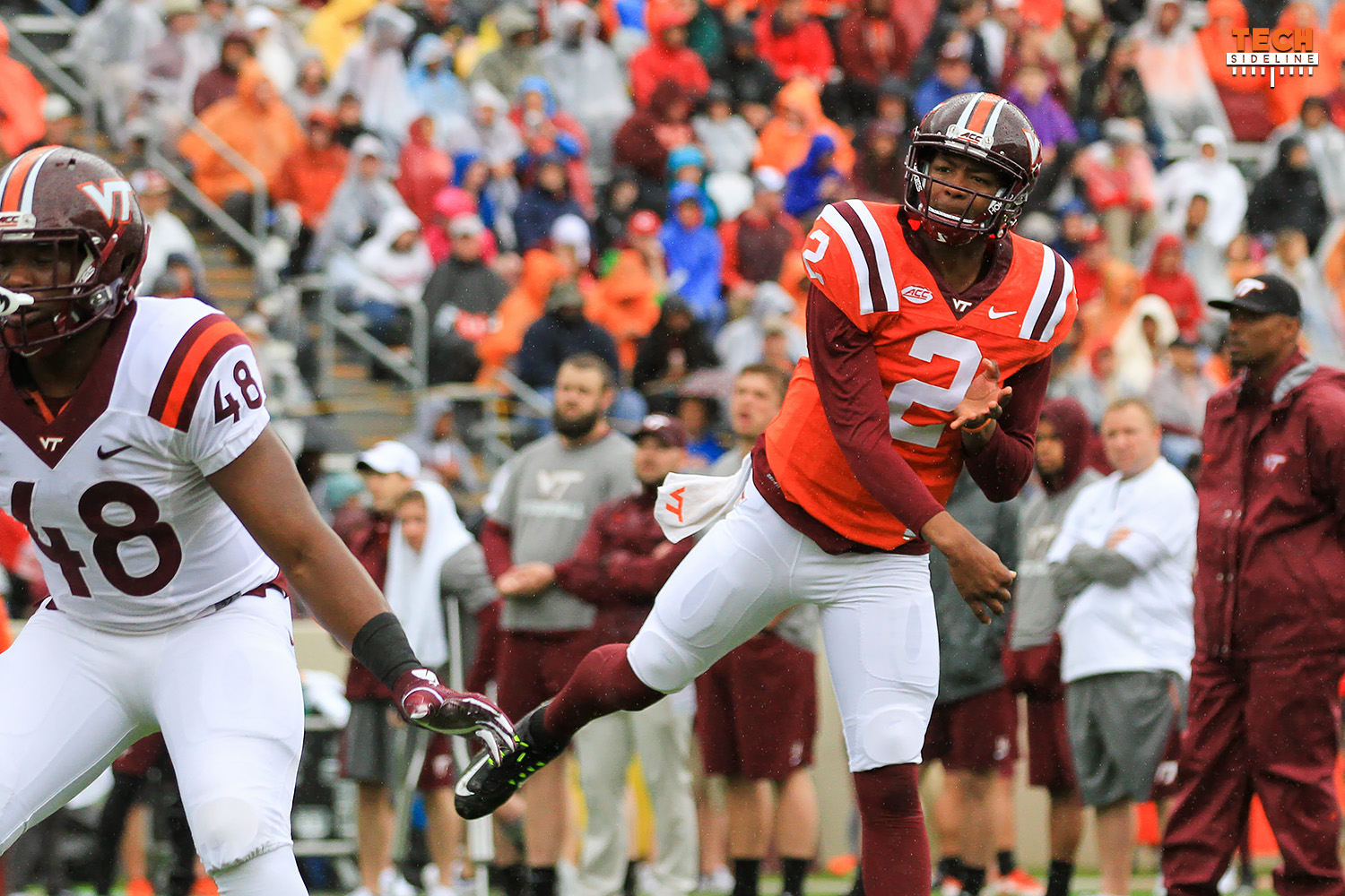 2017.04.22. Spring Game at Virginia Tech (Hokies). Lane Stadium, Blacksburg, VA. VT Head Coach: Justin Fuente.
