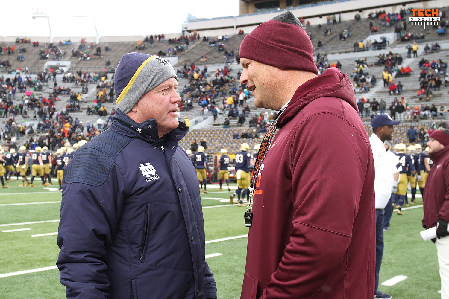 Brian Kelly, Virginia Tech, Justin Fuente, Notre Dame